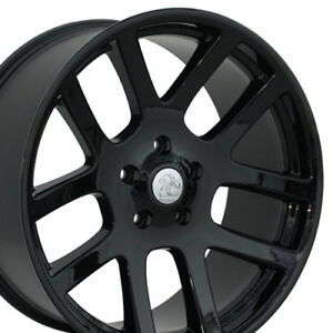 22x10 Black Ram 1500 Srt Style Wheels 22 Set Of 4 Rims Fits Dodgedurango9450455