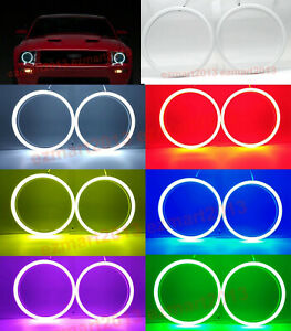 Rf Cotton Rgb Halo Rings For Ford Mustang 2005 2009 Headlight Led Angel Eye Drl