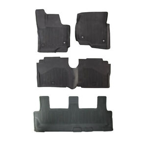Oem New 18 20 Ford Expedition All Weather Tray Rubber Floor Mats W 3rd Row