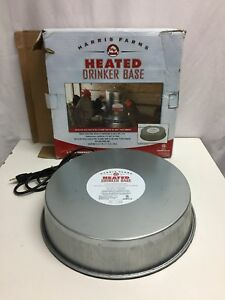 Harris Farms Heated Drinker Base For Poultry chickens Euc Up 1