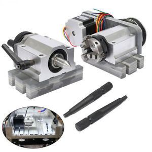 Cnc Lathe Router Rotary Rotational Axis A axis 4th axis 3claw Chunk Tailstock