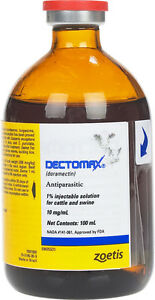 Pfizer Zoestis Animal Health Dectomax 1 For Cattle 100ml