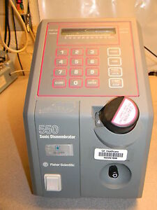 Fisher 550 Sonic Dismembrator Unit No Head Or Interface Cable Included