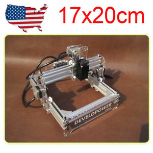 Usa Diy Laser 17x20cm Engraving Machine Blue violet Cnc Engraver Cutter