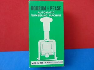 Vintage Boorum Pease 188 Automatic Numbering Machine Made In Japan New In Box