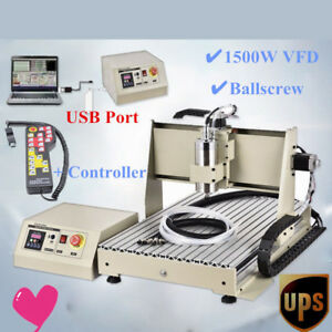 Usb 3 Axis 6040 Cnc Router Engraver Machine 3d Cutter 1500w Handle Controller
