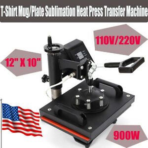 Heat Press Machine For Bags T shirts 12 x10 Digital Kit Sublimation Swing Away