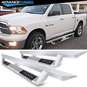 Fits 09 18 Ram 1500 10 18 2500 3500 Crew Cab Side Step Bar Running Boards Silver