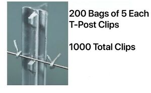 200 Packs Emc Brand 10 Gauge 5 Count T post Wire Fence Clips 1000 Total Clips