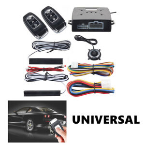 Universal Alarm System Passive Keyless Entry Push Button Remote Engine On Off