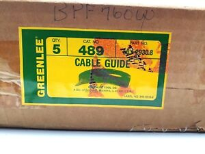 New Greenlee 489 Cable Guide Box Of 5