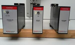 Reliance Electric Cardpak lot Of 3 Consists Of Amplifier Driver Controller
