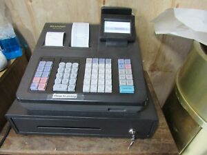 Sharp Xe a43s Electronic Cash Register With Keys Manual low Price