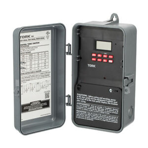 Tork Electronic Nema Outdoor 7 Days 24 hour Timer Dpdt Time Switch 56 On Off Day
