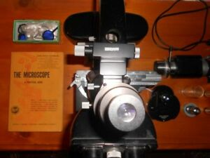 Leitz Ortholux Trino Microscope With Quintuplet Turret With Stage And Extras