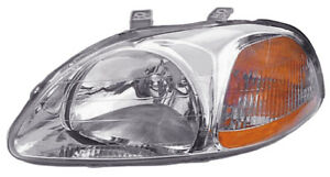 96 98 Honda Civic Sedan Hatchback Coupe Driver Side Headlight