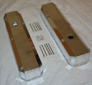 1967 91 Chrysler 318 Tall Fabricated Aluminum Valve Covers 340 360 Mopar Dodge