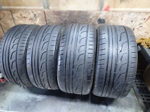 Staggered Set Of Bridgestone Potenza Re760 Tires 275 40 18 And 245 45 17 6 7 32