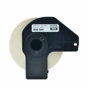 30roll Dk 2205 Continuous Address Labels Frame Compatible For Brother Ql 500