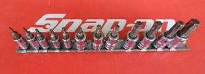 Snap On Tools 3 8 1 4 Drive Standard Torx Bit Socket Set 212eftxy