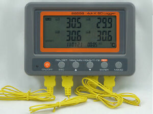 4channels K Type Thermocouple Thermometer Data Logger Sd Card Memory 88598