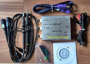 Pc Usb 40mhz 100ms s Oscilloscope 20mhz Waveform Function Signal Generator 2in1