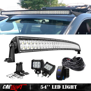 2001 2005 Chevy Suburban Tahoe Gmc Yukon Xl 54 Curved Led Light Bar W 2x 18w