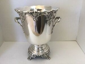 Reed Barton Vintage King Francis 1685 Silverplate Wine Cooler Ice Bucket