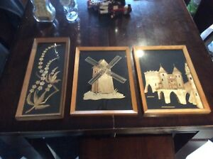Vintage Wooden Frame Picture Set