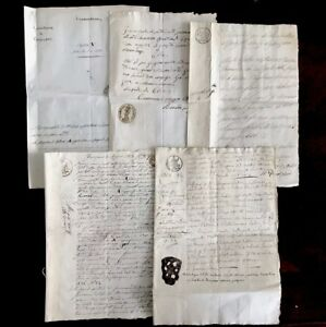 Collection Of Five Old Historical Letters From Italy