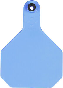Y tex 4 Star Large Blank Cattle Tags 25 Count Blue
