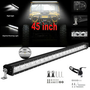 2x Cree 30inch 3264w Dual Row Led Light Bar Spot Flood Offroad Suv Truck 4wd 12v