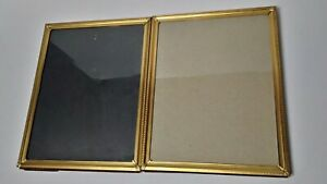 Vtg Gold Brass Color Picture Frames Metal Lot Of 5 For 8x10 Photos Prints