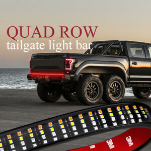 Quad Row 60 Led Tailgate Light Strip Bar Running Reverse Brake Trun Truck 12v