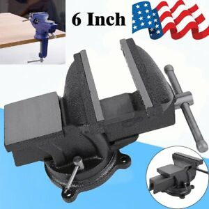 6 Heavy Duty Work Bench Vice Engineer Jaw Swivel Base Workshop Vise Clamp Us Oy