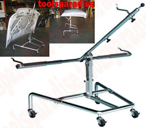 Auto Body Shop Painting Rack Stand Panel Lid Hood Door Paint Parts Holder Hanger