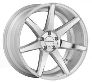 New Staggered 22x9 22x10 5 5 112 Vossen Cv7 Silver W Polished Face Mercedes