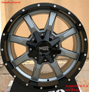 4 New 20 Wheels Rims For Canyon Savana Sierra Silverado 1500 Yukon 25085