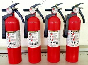 2 5lb Fire Extinguisher Abc Dry Chemical Kidde Disposable 1a10bc Four Pack