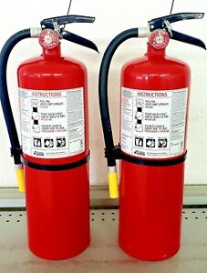 10lb Fire Extinguisher Abc Dry Chemical Kidde New Tag Two Pack