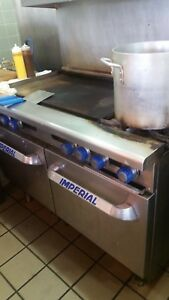 Imperial Range 48 Gas Restaurant 2 Burner Range W 36 Griddle