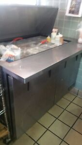 True 48 Sandwich Salad Prep Table Refrigerator Cooler Tssu 48