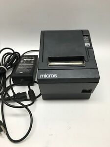 Epson Micros Tm t88iii M129c Thermal Kitchen Pos Usb Printer W Power Supply