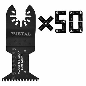 50pcs Oscillating Multi Tool Fast Cut Blades For Dewalt Portercable Makita Ryobi