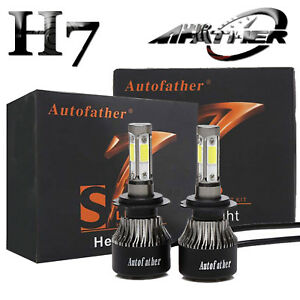 Cree H7 2000w 320000lm 4 Sided Led Headlight Kit High Or Lo Light Bulb 6000k Car