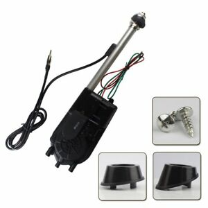 Universal Car Electric Am Fm Radio Power Antenna Kit Aerial Mast Replacement 12v