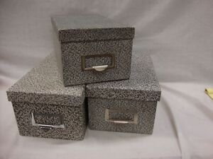 3 Globe weis Black Agate Storage For 4 X 6 Index Card Files Lot Of 3 94 Bla