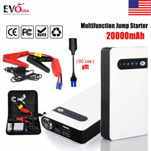 20000mah Portable Car Jump Starter Power Bank Vehicle Battery Charger Engine 12v