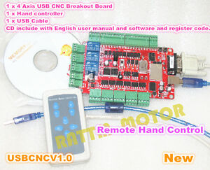 4 Axis Usb Interface Cnc Breakout Board Usbcnc Controller Card For Stepper Motor