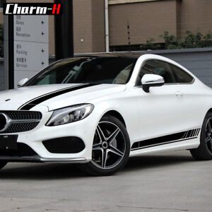 C63 Coupe Amg Style Side Stripe Hood Roof Decal Stickers For Mercedes Benz W205